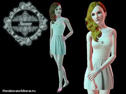 Comely colar dress by Sunny13 - 10 Ноября 2012 - Simsworldnew