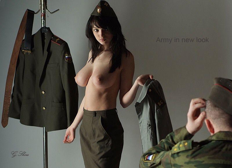 фото голых военнослужащих женщин