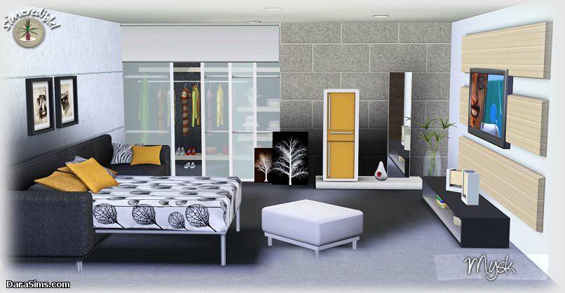 Дизайны спальни в симс 3