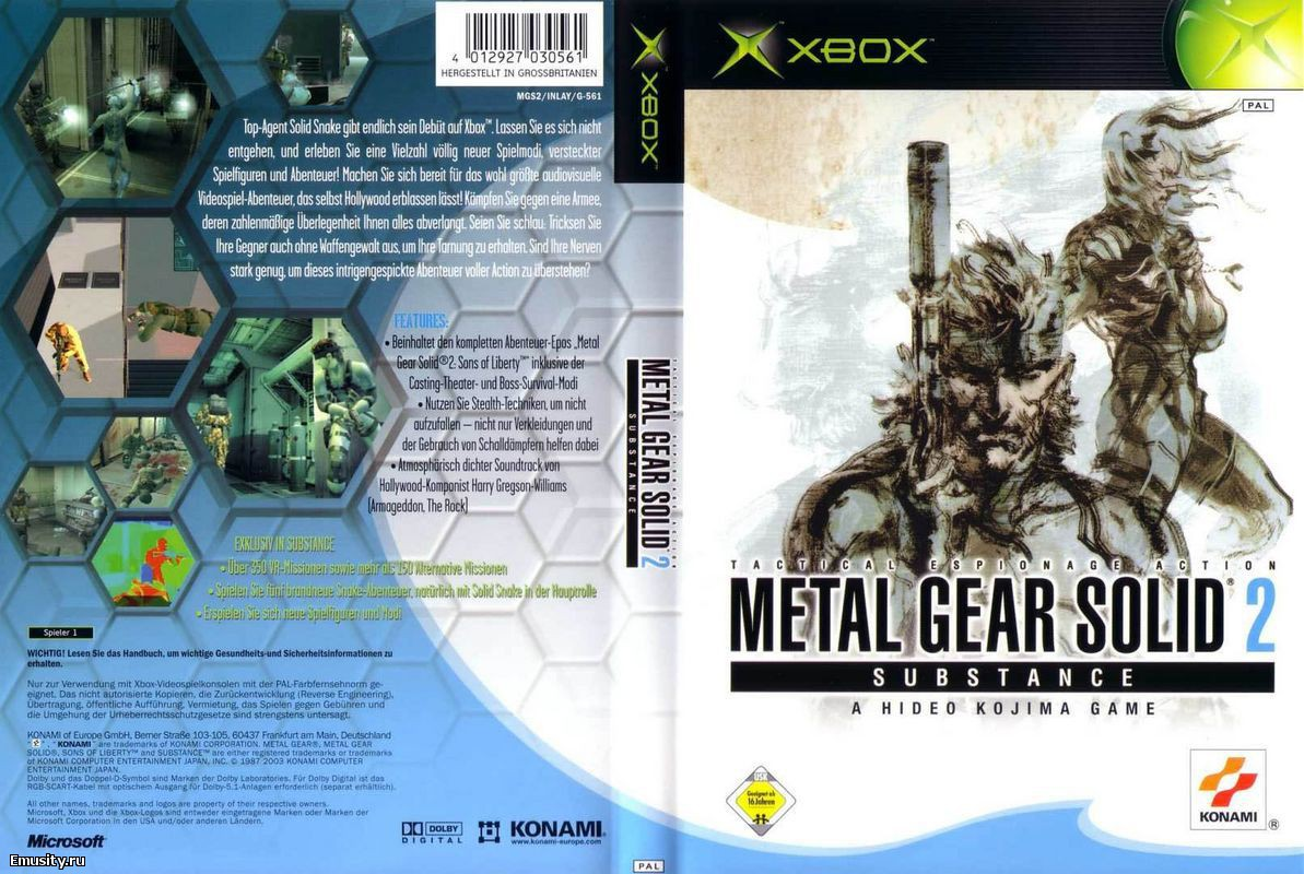 1Metal Gear Solid 2 Substance Pc Download