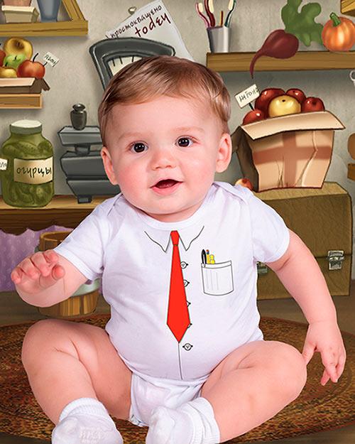 Детский фотошаблон - Будущий бизнесмен