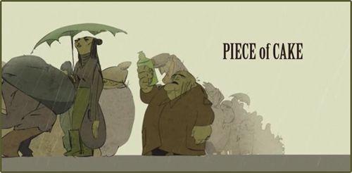 Часть пирога / Piece of Cake (Элиза Иванова / Eliza Ivanova) [2009, короткометражный анимационныйфильм, WEBRip]
