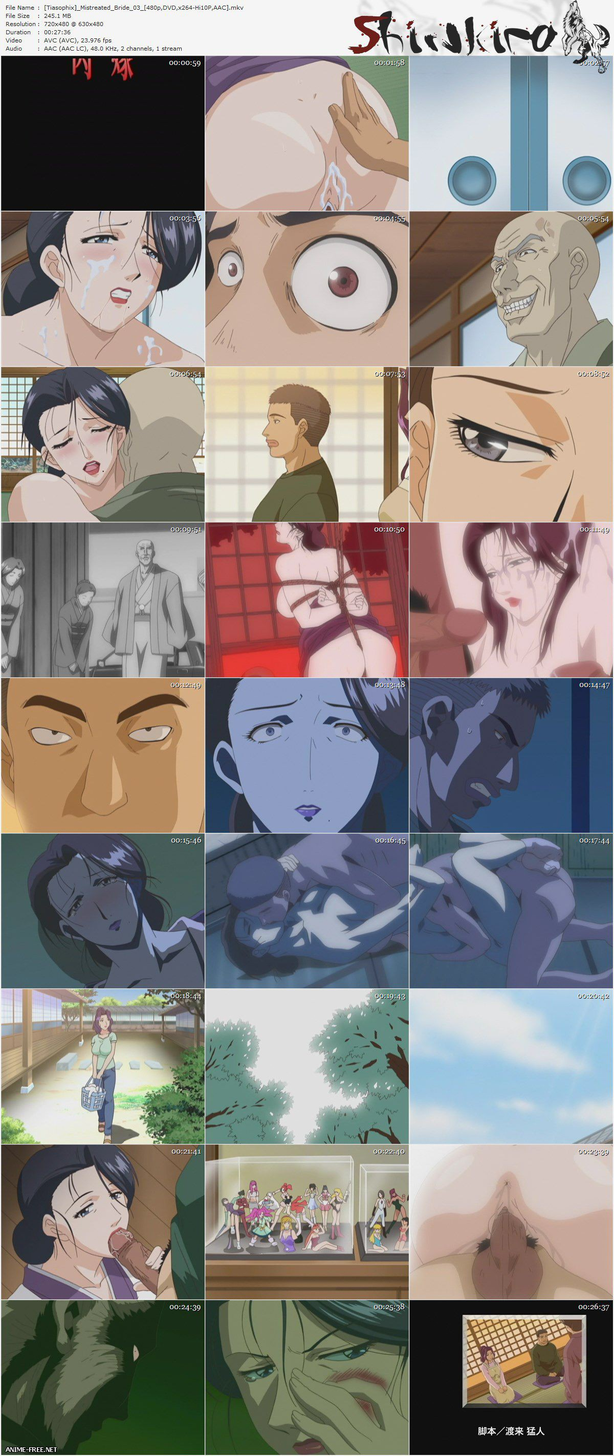 Mistreated Bride / Nikuyome: Takayanagi Ke no Hitobito / Невеста, с которой плохо обращались [4 из 4] [JPN,ENG,RUS] Anime Hentai