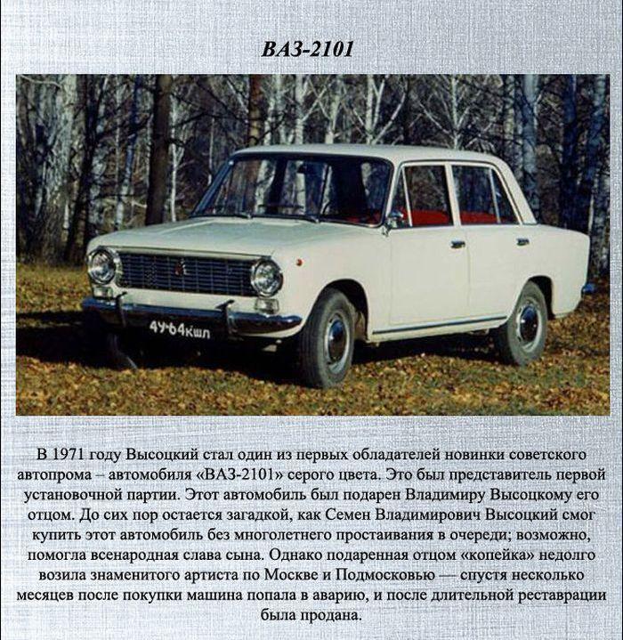 Автомобили Владимира Высоцкого