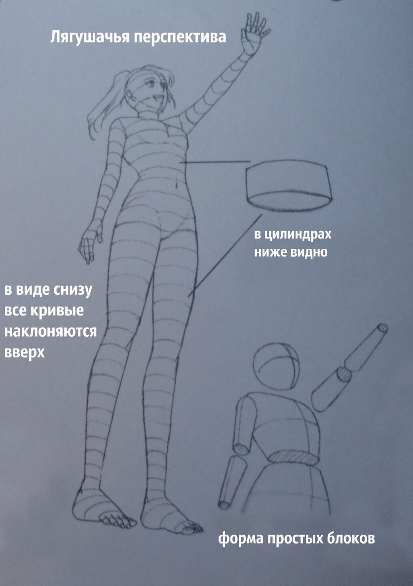 Рисовать человека снизу вверх
