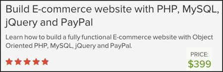 Udemy - Build E-Commerce Website with PHP, MySQL, jQuery and PayPal Course