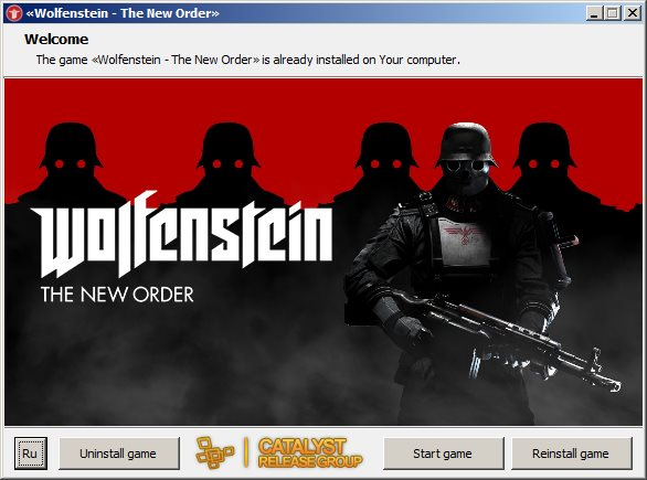 Wolfenstein: The New Order (2014) [Ru/En] (1.0.0.2) Repack R.G. Catalyst