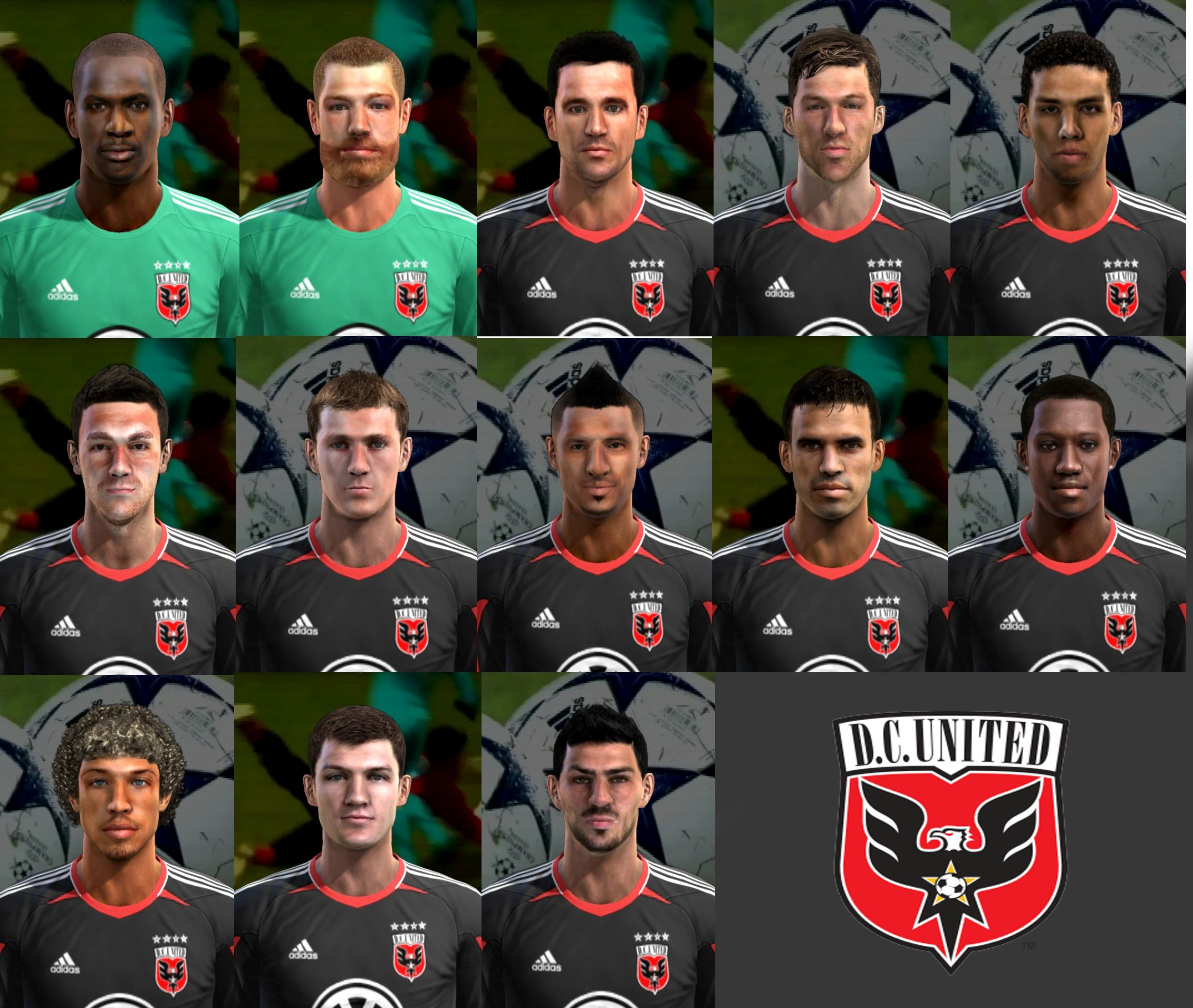 PES 2013 D.C. United Facepack by cirkac-95