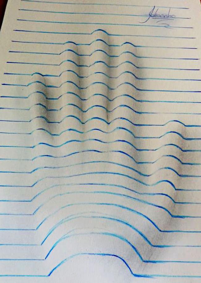 Объемные рисунки в вашем блокноте 10