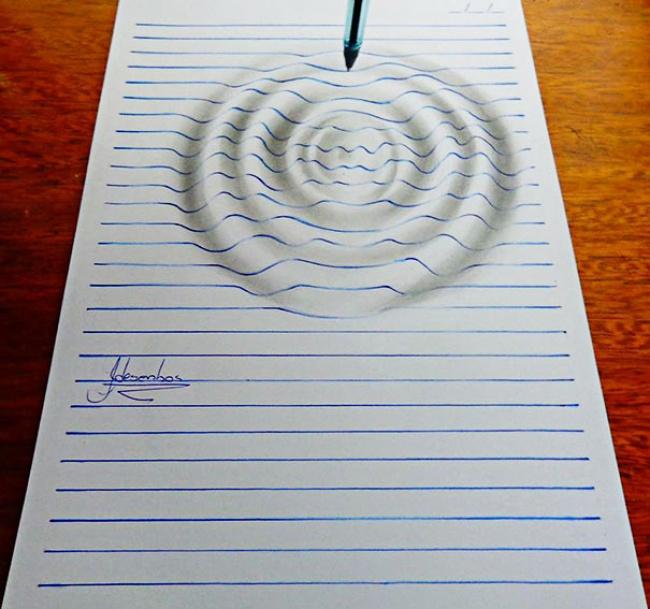 Объемные рисунки в вашем блокноте 3