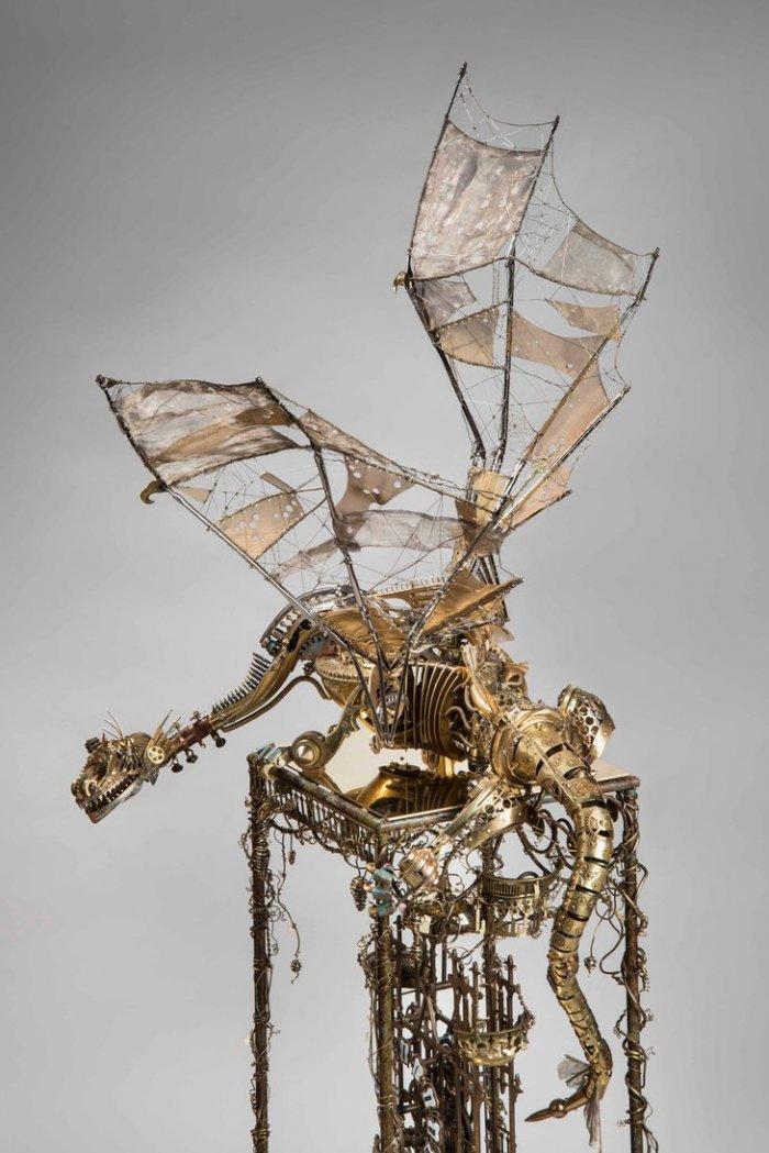 Скульптура: ажурный дракон 1