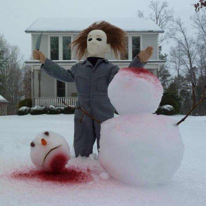 Джейсон и снеговик 1