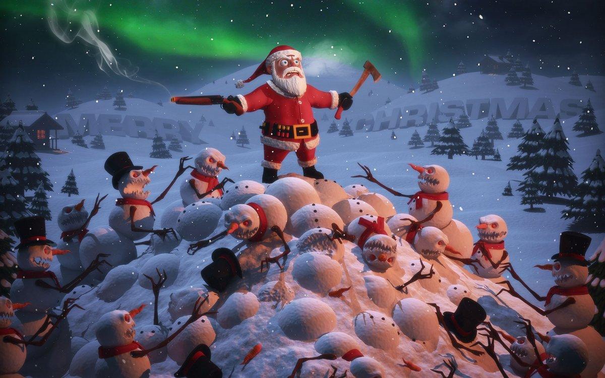 Санта против снеговиков 1