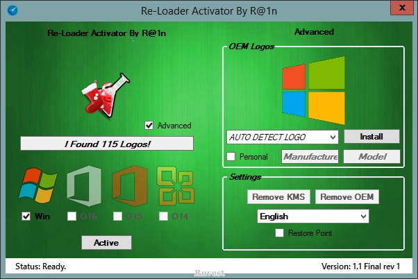 Re-Loader Activator 1.1 Final Rev 2 (2015)Mult/Ru &OE. Windows 8.1 wit