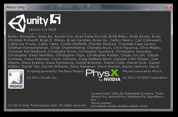 Unity3D 5.0.0b18 + Builtin Shaders