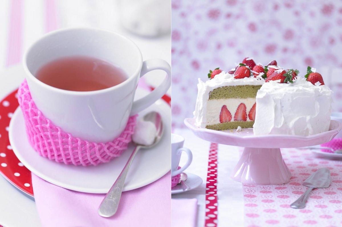 Тортик с теплым ягодным чаем 1