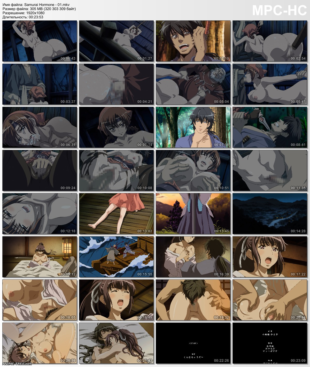 Samurai Hormone The Animation / ������� ������ [Ep.1] [1080p] [RUS,ENG,JAP] Anime Hentai