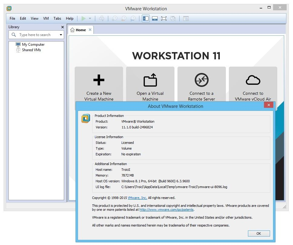 VMware Workstation 11.1.0 Build 2496824-EMBRACE - (Antonhyip)