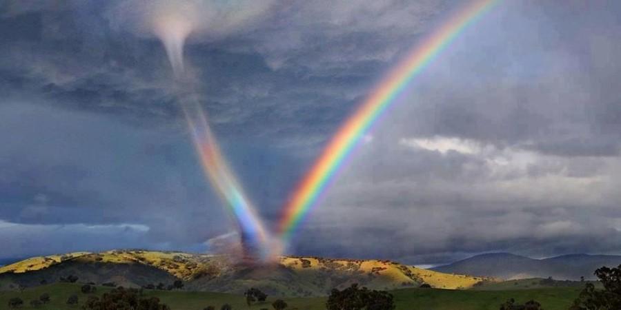 Торнадо и радуга