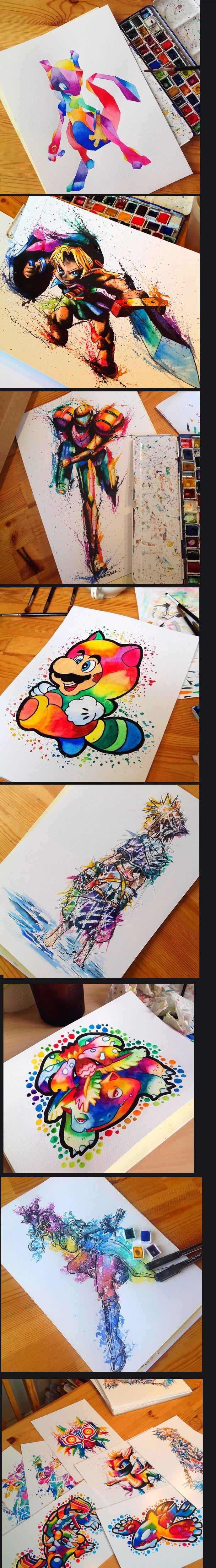 Рисунки акварелью