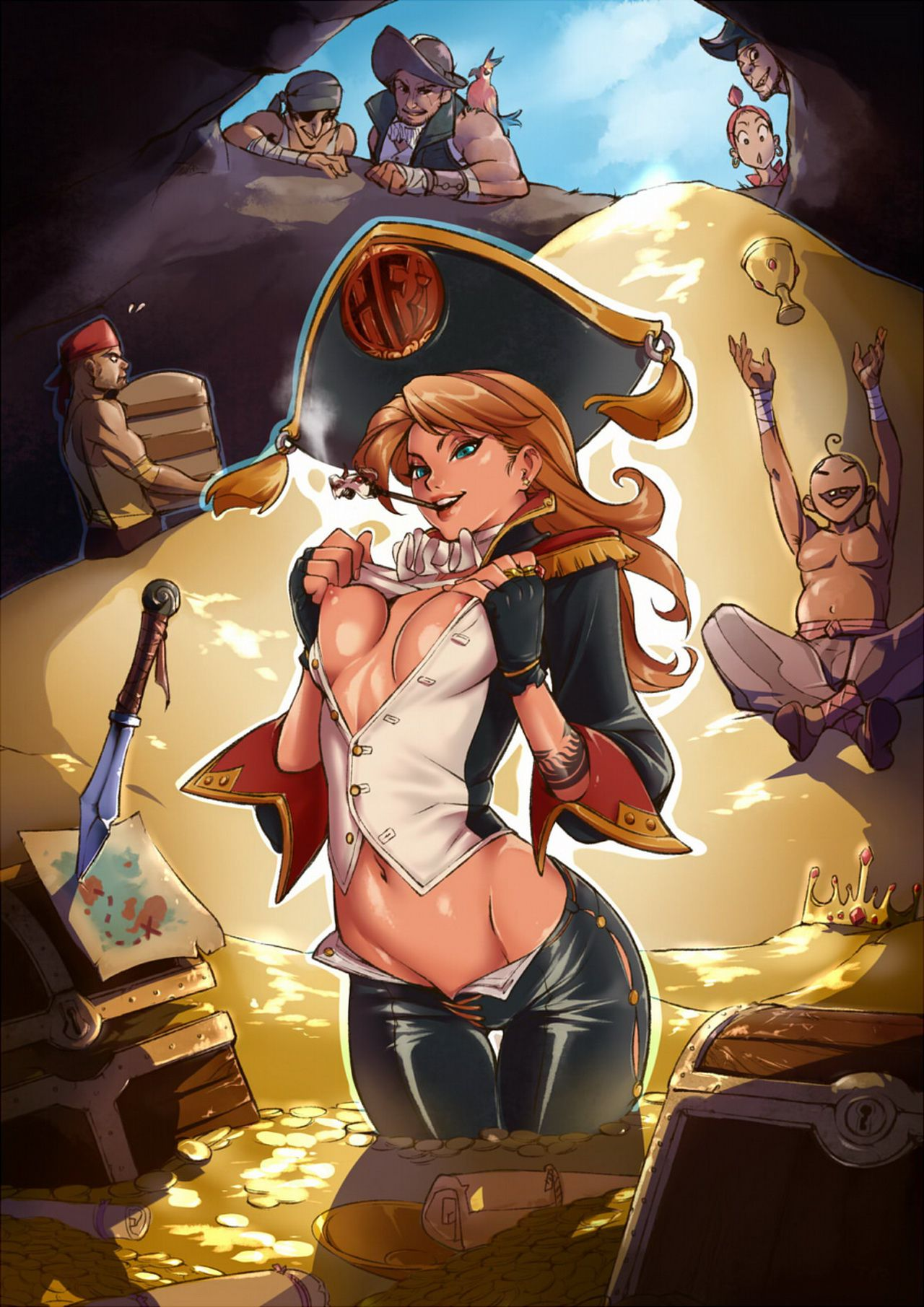 Erotic pirates art sexy tube
