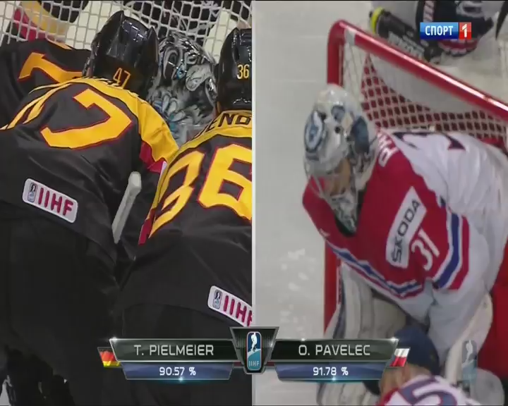 Хоккей. Чемпионат мира 2015 (Группа А. 6 тур. Германия – Чехия) (2015) DVB