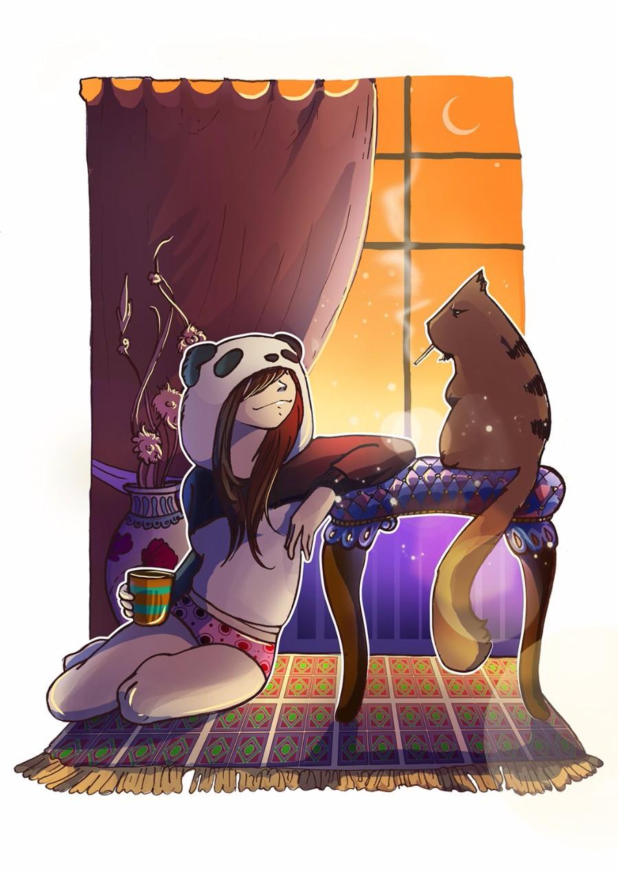 Вечер у окна