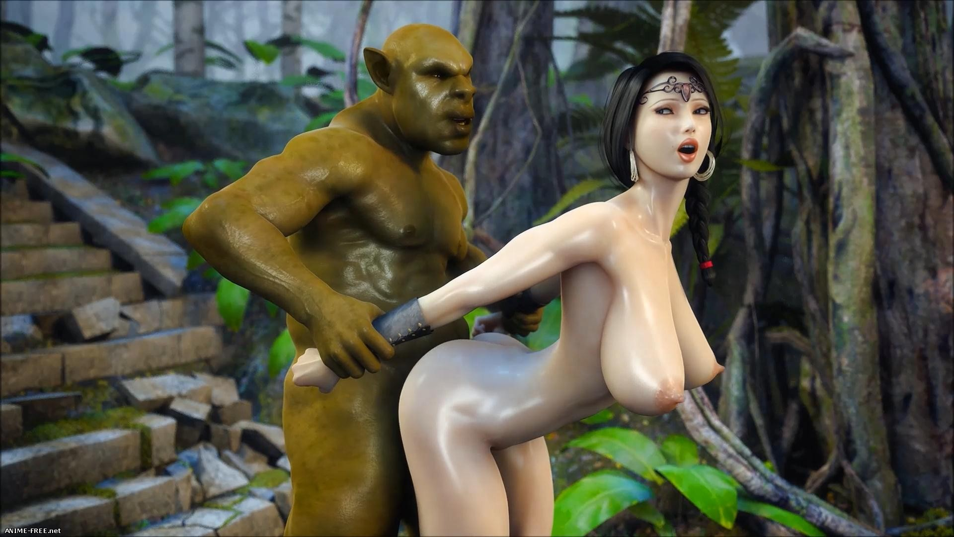 Secret of Beauty Orc Ritual and Secret of Beauty Stone Lady [2 из 2] [Uncen] [3D] [1080p] Anime Hentai
