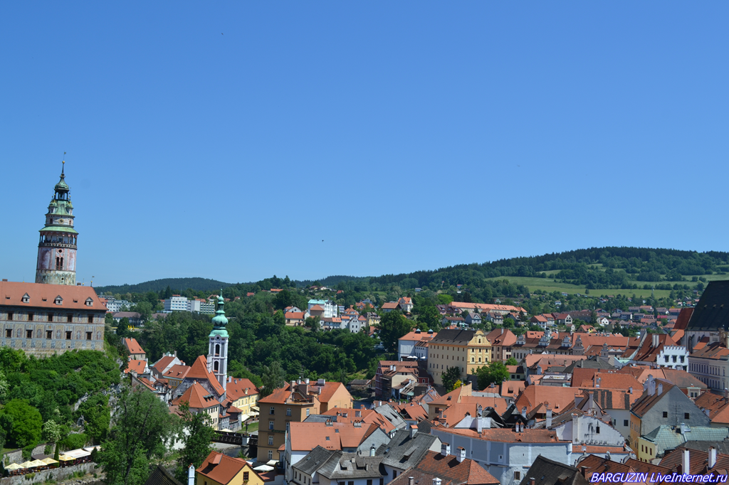 Крумловский замок на Влтаве в Чехии