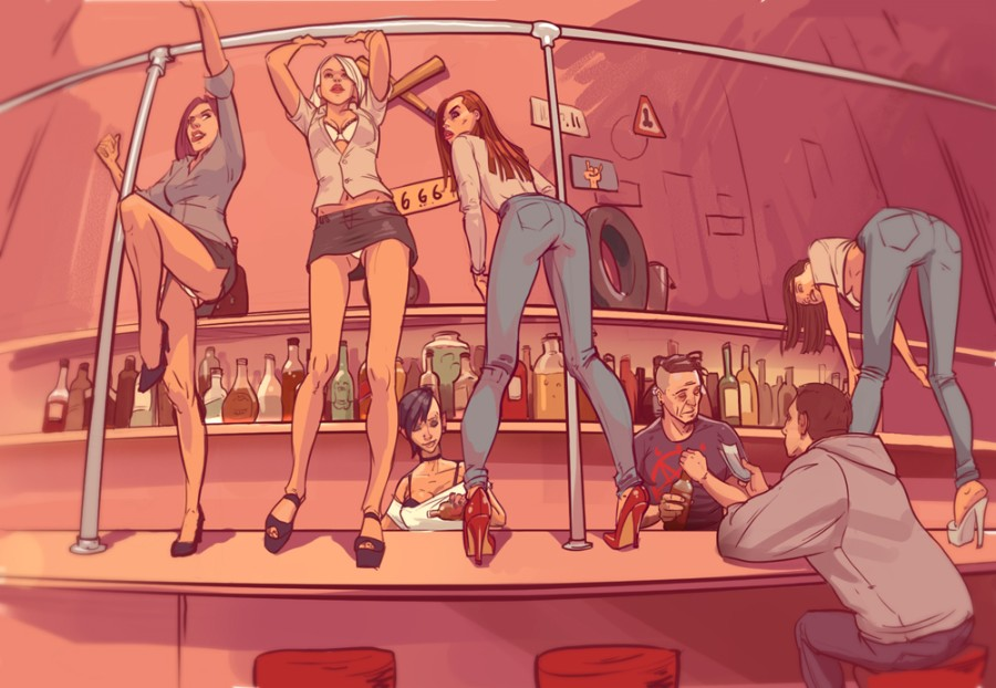 Танцы в баре