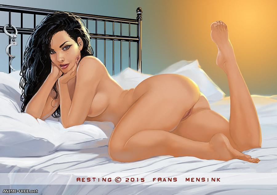 Сборник рисунков художника Frans Mensink [Uncen] [JPG,PNG,GIF] Hentai ART
