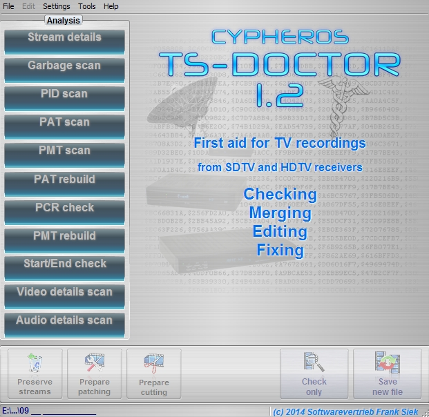 Cypheros TS-Doctor (v. 1.2.131) (Portable) / Мультимедиа / 2012
