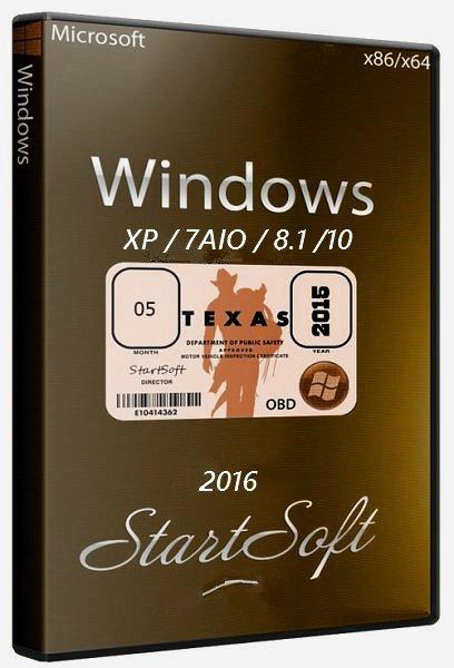 Windows 10-8.1-7AIO pe StartSoft 6-2016 [Ru]