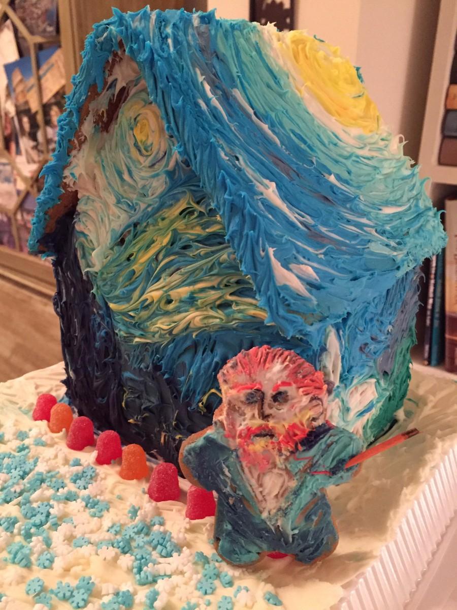 Тортик в стиле Ван Гог