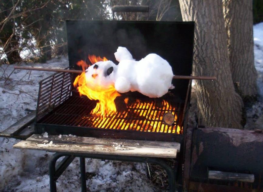 Ничего необычного, просто жареный снеговик 1