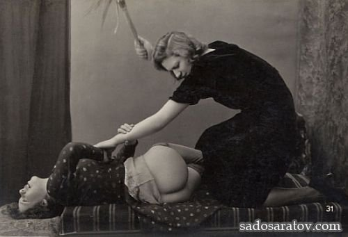 ретро порка женщин фото
