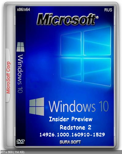 Microsoft Windows 10 Insider Preview Redstone 2 build 10.0.14926 SURA SOFT (х86.х64)
