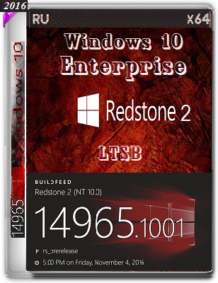 Windows 10 Enterprise 14965 rs2 analog LTSB by Lopatkin (x64) (2016) Rus