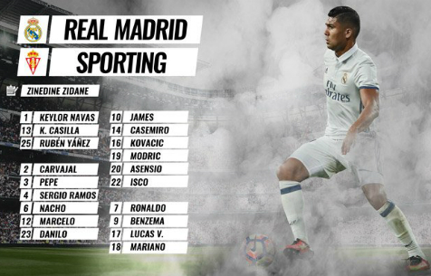 "Заявка ""Мадрида"" на игру против хихонского ""Спортинга"""