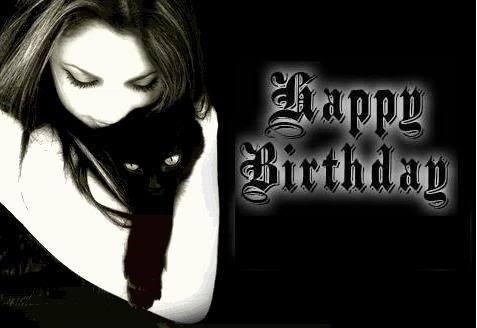Готические поздравления с днем рождения в картинках