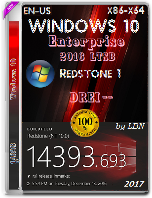 Windows 10 Enterprise 2016 LTSB 14393.693 DREI-PC by Lopatkin (x86/x64) (2017) Eng