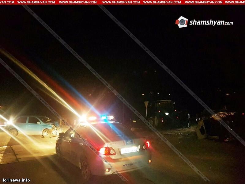 Ավտովթար Լոռիում. մեքենաներից մեկը շրջվել է. կան վիրավորներ(ֆոտո)