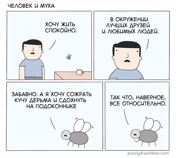 Человек и муха