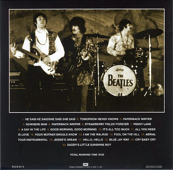 beatles, the artifacts - the definitive collection of beatles rarities : the psychedelic years 1966-1967, 1993  (