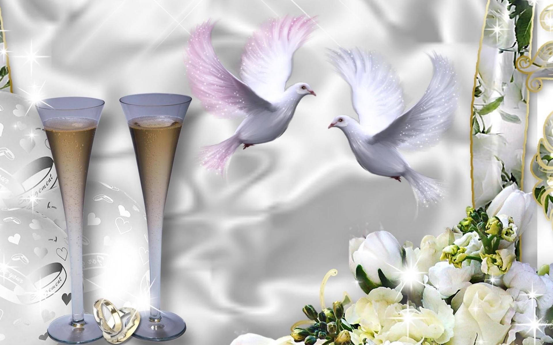 Открытки с голубями свадебные, поздравление крещением господнем
