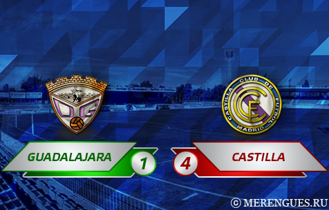 CD Guadalajara - Real Madrid Castilla 1:4