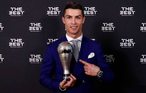 Роналду в тройке финалистов на звание лучшего игрока года FIFA