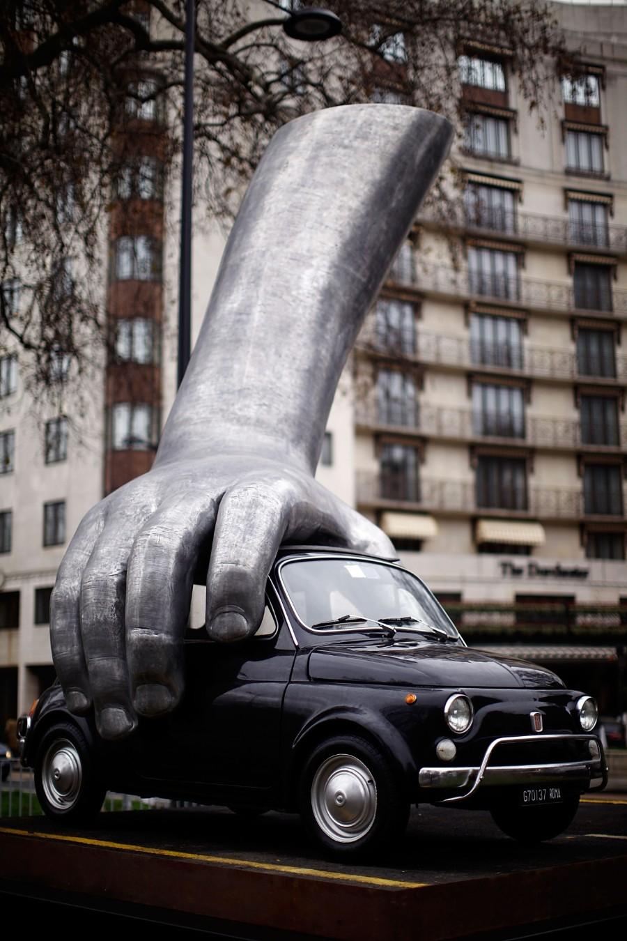 Скульптура с авто