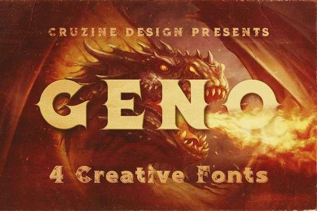 Шрифты - CreativeMarket - GenoTypeface [OTF, TTF]