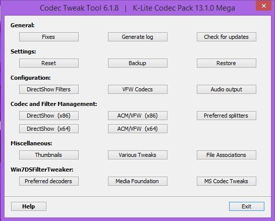 K-Lite Codec Pack 13.6.5 + Update (2017) PC